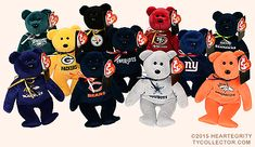 Baltimore Ravens, Ty Beanie Baby bear reference information and photograph. Beanie Baby Bears, Ty Beanie, Rare Beanie Babies, We Bare Bears, Baltimore Ravens, Stuffed Animals, Mickey Mouse, Nfl, Disney Characters