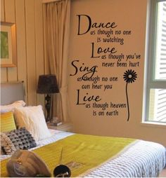 Z Dance&Love&Sing&Live Wall Quotes Decals Removable Sickers Decor Black 40*60CM