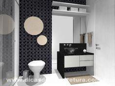 Banheiro sóbrio e elegante. http://dicasdearquitetura.com.br/dicas-para-escolher-cor-banheiro/