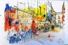 Colourful street scene experiment by John Harrison, artist, via Flickr