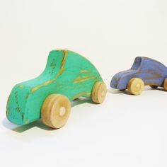 color wooden toy car Porsche 911 by Wheelsandpaintings on Etsy, $22.00