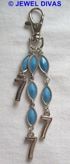 LUCKY NUMBER 7 - $7.50 - www.madeit.com.au/JewelDivas Lucky 7, Lucky Number, Number 7, 7 And 7, Jewels, Personalized Items, Jewerly, Gemstones, Fine Jewelry
