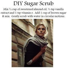 DIY sugar scrub!