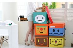 Manemo Childrens Storage Box with Handles - Variety Pack.