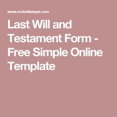 Forms and last testament will pdf
