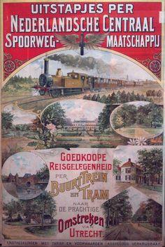 Spoorwegreclame uit 1904! De affiche is te zien in het Spoorwegmuseum