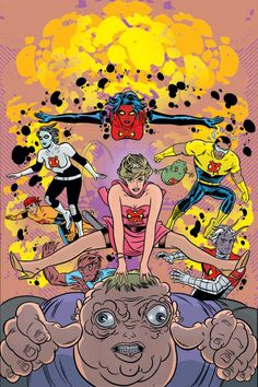 """[[Post by Adrielle]] """"i found it really disrespectful that marvel tried to run a comic (called x-statix) in 2003 of a zombie princess diana joining their team and """"stealing all the spotlight for. Comic Book Panels, Comic Book Covers, Comic Books, A Comics, Funny Comics, Mike Allred, Zombie Princess, Zombie Girl, Panel Art"""
