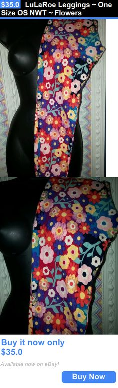 Women Leggings: Lularoe Leggings ~ One Size Os Nwt ~ Flowers BUY IT NOW ONLY: $35.0