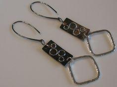 metal earrings cute!