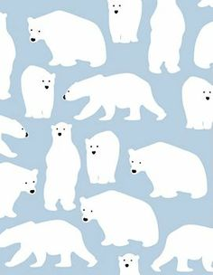 Polar Bears Wrapping Paper @Hannah Mestel Stovall