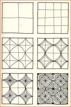 zentangle patronen stap voor stap - Google zoeken