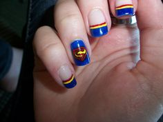 Superman Nails by ~QueenOfAwesomeness on deviantART