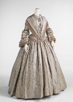 Afternoon dress Date: ca. 1848 Culture: British Medium: silk Accession Number: 2009.300.954