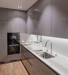 Simple Kitchen Design, Luxury Kitchen Design, Kitchen Room Design, Kitchen Cabinet Design, Kitchen Layout, Home Decor Kitchen, Interior Design Kitchen, Home Kitchens, Luxury Kitchens
