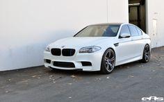 BMW   Fahrverhalten und Optik des EAS BMW M5 F10 in Frozen White profitieren ...