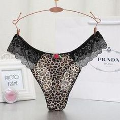 0e477962cacd New Arrival Plus Size Leopard Underwear Women Panties Sexy Briefs See  Through Female Seamless Lace Lingerie Gauze Panties
