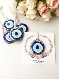 https://www.etsy.com/listing/555073649/wedding-favors-for-guest-silver-evil-eye Wedding favors for guest, silver evil eye charms, nazar boncuk, unique wedding favors, personalized wedding gift, evil eye with wedding card, evil eye beads The listing includes 2 different card designs; Design 1:card with text + names/dates Design 2: card only with names/dates #weddingfavors #favorsforguest #silverevileye #evileyebeads #glassevileye #weddinggift #evileye #weddingcard #evileyes #personalizedcard