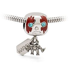 Silver-tone Guardians of the Galaxy Drax charm bead.