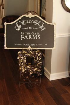 Welcome Sign  Up the Creek Farms