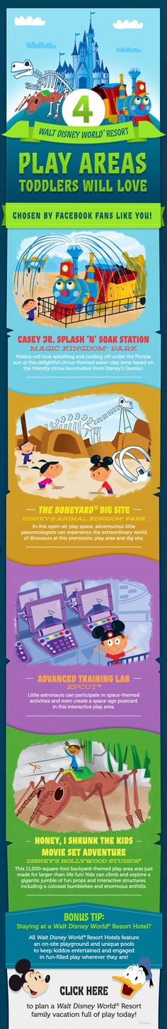 Check out these 4 play areas toddlers will love at Walt Disney World! #vacation #tips #tricks