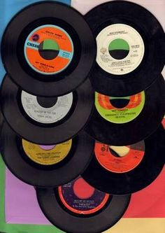 45's I'd get a new 45 the my weekly allowance and play it over and over till my Dad work say enough. Loved the music.
