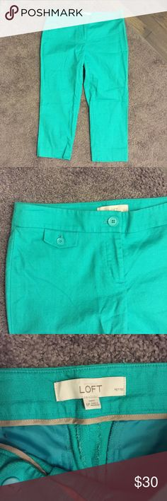 Loft Teal Blue Capri Ankle Pants Petite 6 NWOT ☀️ Brand new without tags! Thank you for looking! LOFT Pants Ankle & Cropped