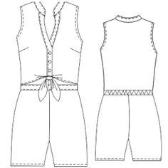 Elige entre una gran variedad de moldes de ropa y patrones ropa bebes Enterito 2813 DAMA Tallas Grandes