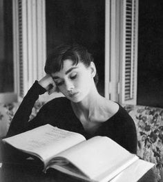 Two of my favorite things; Audrey and reading.