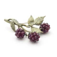 Raspberries Brooch by Michael Michaud