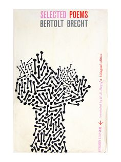 Roy Kuhlman – Book cover design for Selected Poems by Bertolt Brecht, 1959