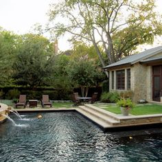 Black Bottom Pool Design Ideas, Pictures, Remodel, and Decor