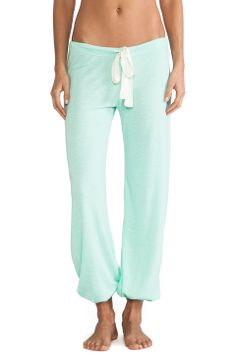 eberjey Heather Cropped Pant in Mint Glow from REVOLVEclothing