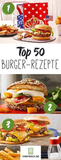 Top 50 Burger: Leckere Rezepte für großen Burgerspaß