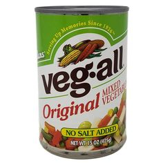 Veg-All No Salt Added Mixed Vegetables are the perfect low sodium addition to your meals and recipes! With only of sodium per cup (that's per can!) you'll want this on hand. Can includes stove top and microwave cooking instructions No Sodium Foods, Low Sodium Recipes, Lima Bean Recipes, Cooking Pork Tenderloin, Pickled Beets, Fried Vegetables, Cooking Instructions, Cooking Light, How To Cook Pasta