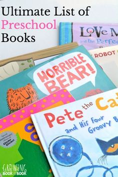 The BIG list of preschool books full of book lists and tips for reading with children.