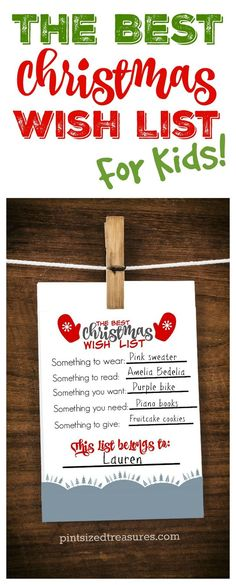 Encourage kids to be thoughtful this year in their Christmas wish list adventures! Check out this adorable printable that parents AND kids love! Print it out, fill it out and hand it on your fridge! It's cute enough to frame as well as a keepsake! ♥️