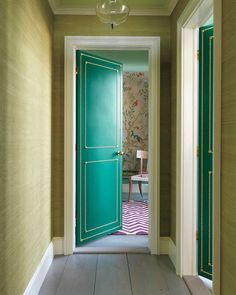 Be sure to set the design far enough in from the edge of the door so it clears the door frame when the door is closed.