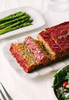 Loaf Recipes, Lentil Recipes, Vegan Dinner Recipes, Vegan Dinners, Whole Food Recipes, Cooking Recipes, Vegetarian Recipes, Healthy Recipes, Cheese Recipes