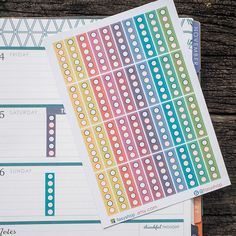 40 Circle Checklists Pastel Colors Sticker  // Horizontal ECLP by FasyShop on Etsy