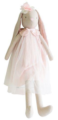New Alimrose linen Bessie Bunny Pink www.missnmaster.com