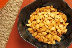 Roasted Pumpkin Seeds. Purists will want only salt as a seasoning, but if you're feeling adventurous, experiment and have fun with seasoning blends.