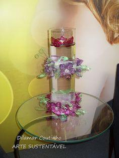 Abraçadeiras de flores de PET
