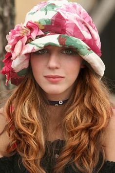 Flowered Hat....so gorgeous