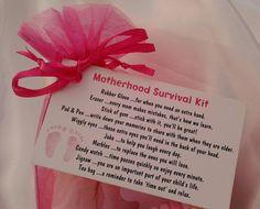 Little BAG of BITS: Motherhood Survival Kit - new baby gift, treasure basket, mum to be present, baby shower, novelty birthday gift