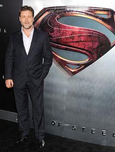 Russell Crowe at Man of Steel premiere