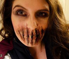 Bane sliced mouth sfx makeup facepaint tutorial