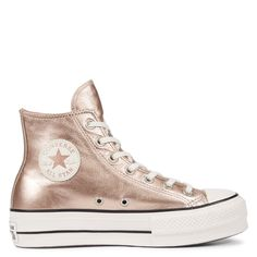 fb90b559cb5 Chuck Taylor All Star Lift Metallic Leather High Top Particle Beige White  particle beige