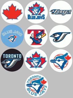 Lots of Toronto Blue Jays pins covering decades of the team's logos. Mlb Team Logos, Mlb Teams, Sports Logos, Sports Teams, Blue Jay Way, Go Blue, Baseball Park, Baseball Shirts, Toronto Blue Jays Logo