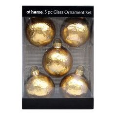 Picture of 5 Count Gold Mosaic Gold Christmas Decorations, Christmas Ornaments, Glass Ornaments, Seasonal Decor, Mosaic, Wreaths, Count, Door Wreaths, Christmas Jewelry