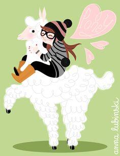 http://annalubinski.com/blog/?p=90  Ma soeur aime les lamas